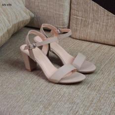 Giày cao gót 7 phân quai xi sáp hở gót LT