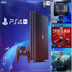 Combo Sony PS4 Pro 1TB [Bảo Hành 2 Năm] + 2 Tay Cầm + 2 Games Hot