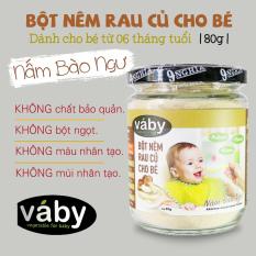 [HCM]Bột nêm Nấm Bào Ngư & Phô Mai dành cho bé ăn dặm VABY hủ 80g – Gia vị nêm và rắc dành cho bé từ 6 tháng tuổi
