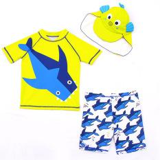 [Tặng nón] Đồ bơi trẻ em bé trai màu vàng, chống nắng, giữ nhiệt, co giãn tốt