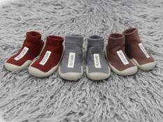 Giày bún dạng tất tập đi cao cổ cho bé đế cao su chống trượt phong cách Hàn Quốc Comfybaby GB001