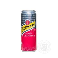 Schweppes Taste of Pink Grapefruit 330ml – Nước ngọt có ga hương vị bưởi đỏ SCHWEPPES 330ml