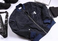 Áo Khoác Bomber Jacket Nam Nữ Trần Bông VNXK