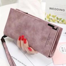 Bóp ví dài nữ da lộn khóa kéo. Phong cách Hàn Quốc (TT1967)