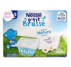 Sữa chua Nestle vị tự nhiên 6*60g cho trẻ từ 4m – Pháp date T12.2020