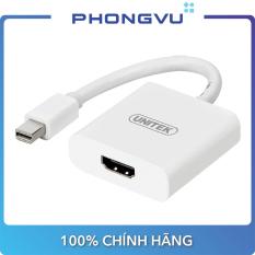 Cáp MiniDisplayport – HDMI 0.2m Unitek (Y 6325WH) – Bảo hành 12 tháng
