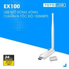 USB mở rộng sóng Wi-Fi chuẩn N tốc độ 150Mbps TOTOLINK EX100 – Hãng phân phối chính thức