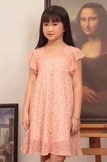Đầm cho bé gái họa tiết dễ thương xinh xắn cổ U GUMAC DKA457 màu Hồng( dành cho bé gái từ 2 tuổi đến 9 tuổi)