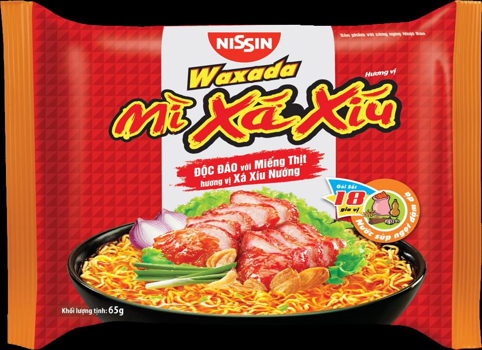 Thùng 30 Gói Mì Waxada – Hương Vị Xá Xíu (65gr)
