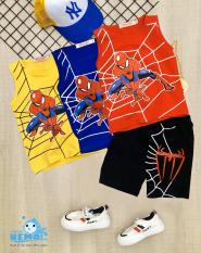 (GIÁ TẬN XƯỞNG) COMBO 3 bộ đồ quần áo cho trẻ em có 3 màu khác nhau in hình Spider-Man người nhện cho bé trai từ 8kg đến 26kg