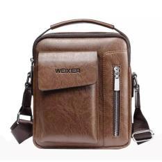 Túi đeo chéo nam thời trang Túi da PU đựng Ipad, điện thoại, ví, đồ cá nhân size 24x20x6cm IPAA1