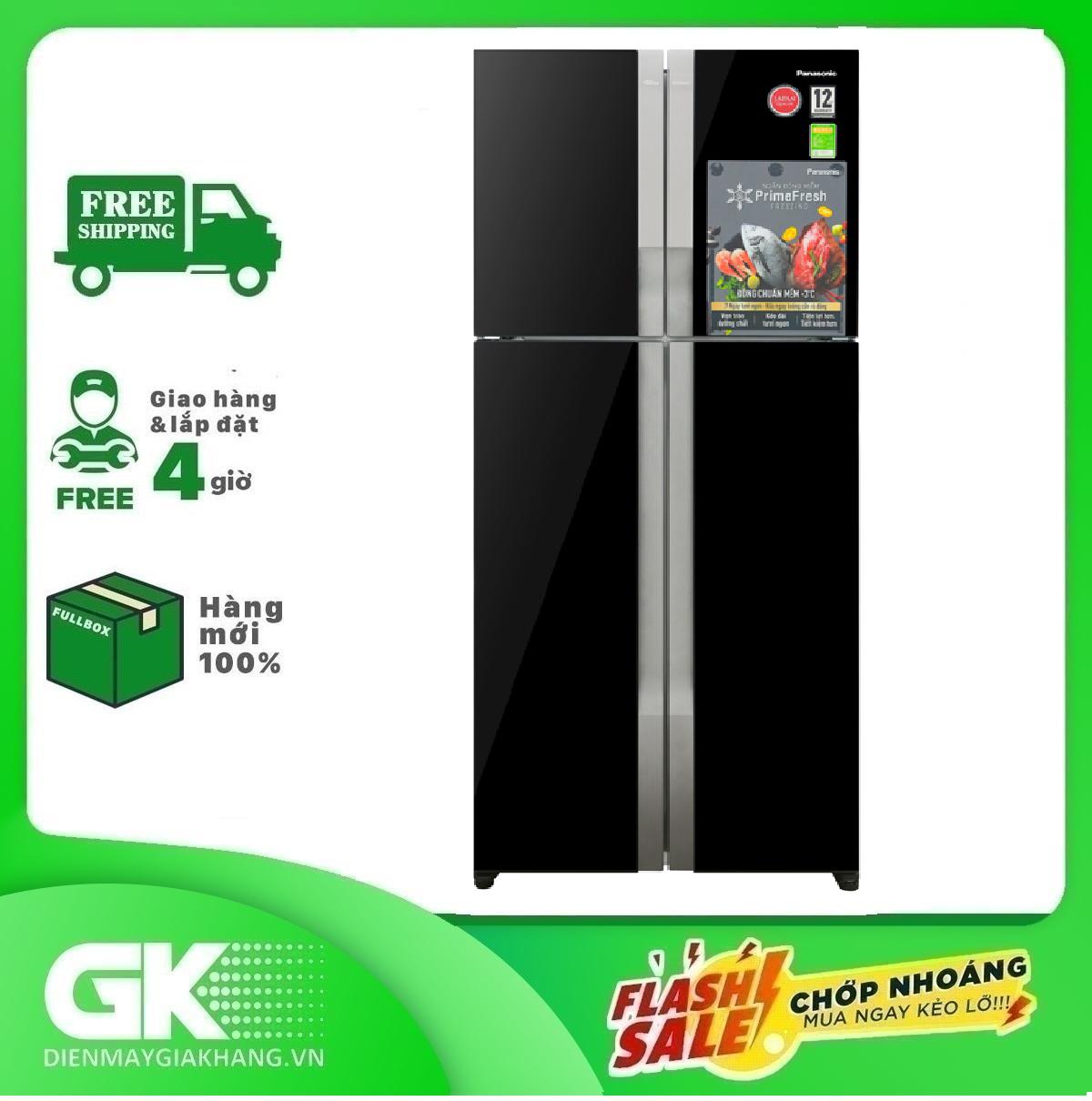 TRẢ GÓP 0% – Tủ lạnh Panasonic Inverter 550 lít NR-DZ600GKVN- Bảo hành 2 năm