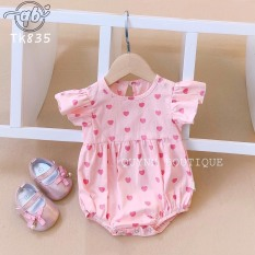 Body chip hoa nhí kèm nơ thoáng mát mặc mùa hè cho bé gái (4-11kg)