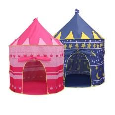 Lều công chúa hoàng tử khung kim loại hồng/ xanh cho bé