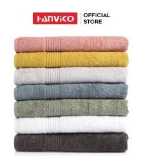 Khăn tắm lớn HANVICO 100% cotton cao cấp thấm hút tốt chuẩn 5 sao