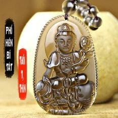 Chuỗi hạt đeo cổ mặt Phật bản mệnh người tuổi Thìn, tuổi Tỵ – phật Phổ Hiền Bồ Tát S668 ( đá vàng )
