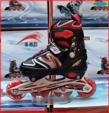 Giầy trượt patin người lớn – trẻ em có đèn flash tặng bảo vệ tay chân, mẫu mới 2021