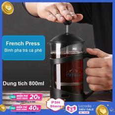 Bình pha cà phê Pháp Lock&Lock French Press bình pha trà dung tích 800ml LLG018 – Thân thủy tinh chịu nhiệt Borosilicate – Thiết kế đẹp sang trọng