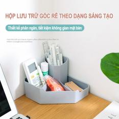 Hộp cất giữ đa năng để trên mặt bàn, giá để đồ dùng bàn chải trang điểm bút ở vị trí góc, hộp thu xếp đặt dụng cụ văn phòng phẩm ký túc xá