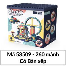 Đồ chơi Bộ xếp hình khối lắp ráp ghép mô hình nhiều chi tiết cho trẻ từ 6 tuổi – Hộp nhựa mã Enli2901 KamiToy