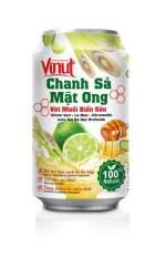 Hộp 03 Lon Chanh Sả Mật Ong Với Muối Biển Sâu Tăng Cường Hệ Miễn Dịch Vinut 330ml