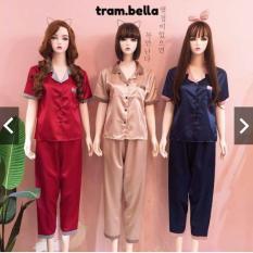 Mẫu Mới Bộ Pijama Phi Lụa Phối Tay Ngắn Quần Dài (Ảnh Thật )Nhắn tin chọn màu