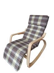 Ghế thư giãn Poang ghế lắc có đế chân khung gỗ chắc chắn, an toàn, nệm mút dầy êm ái, bọc vải thoáng mát