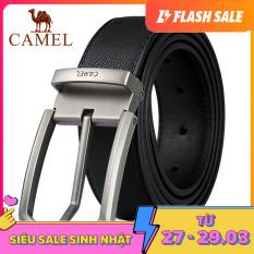 Thắt lưng chất liệu da 100% cao cấp dành cho nam phong cách doanh nhân thanh lịch CAMEL