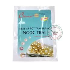 Kem và bột tắm trắng Ngọc trai Chenmai 150g (Xanh – Trắng)