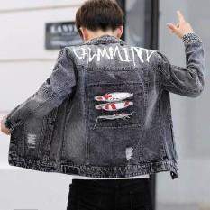 áo khoác jean nam bụi bặm chuẩn men full boy thời trang Store an001