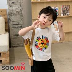 Áo thun bé trai Hàn Quốc QATE H4, Áo trẻ em 1 – 5 tuổi chất cotton Soomin Shop