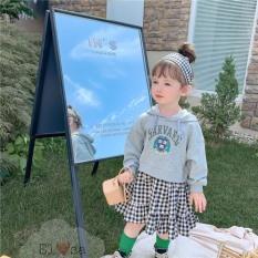 Váy bé gái – Set áo kèm chân váy kẻ siêu xinh cho bé 1-5 Tuổi
