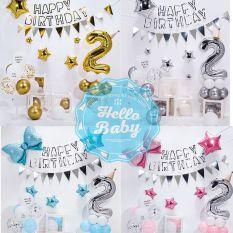 Set bóng trang trí sinh nhật sang chảnh cho bé ( Bơm + Băng Keo)