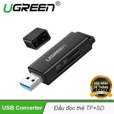 Đầu đọc thẻ nhớ SD/TF Ugreen 40752 chuẩn USB 3.0 cao cấp