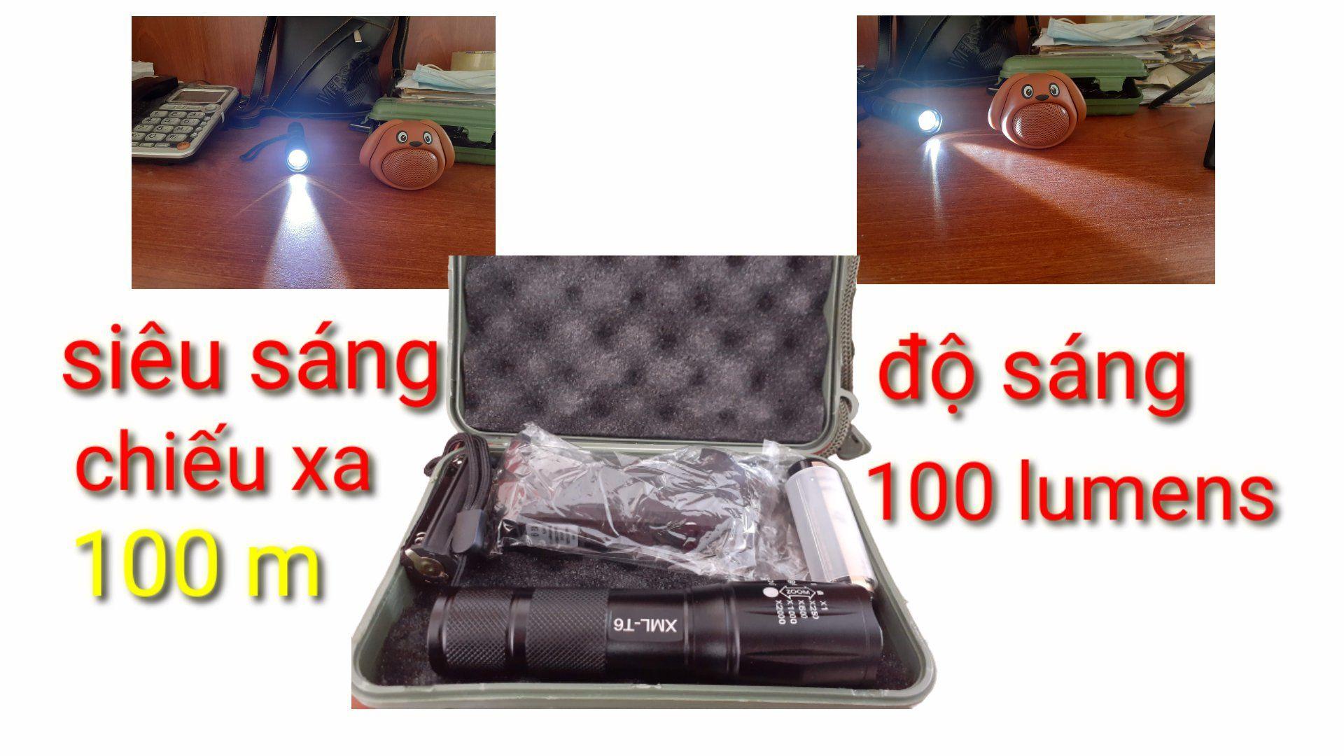 đèn pin siêu sáng chất liệu hợp kim nhôm cao cấp, cô 5 chế độ sáng, thiết kế nhỏ gọn....