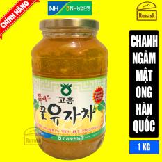 Chanh Ngâm Mật Ong Hàn Quốc 1kg Nắp Vàng NONGHYUP [ Date 3/2022 ]- Chanh Vàng Mật Ong- (Chanh Đào Ngâm Mật Ong)