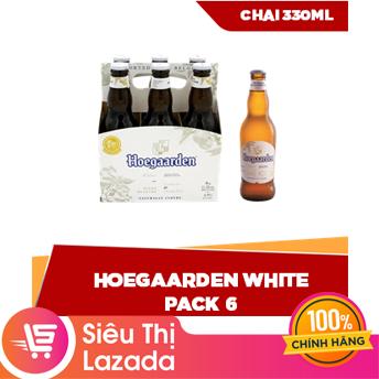 [Siêu thị Lazada] Lốc 6 chai 330ml Hoegaarden White – nguyên liệu hảo hạng hỗn hợp lứa mì và lúa mạch tươi mát cay nồng tinh tế