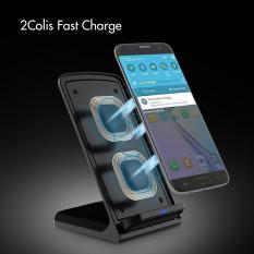 Bộ sạc không dây, Đế sạc nhanh không dây sạc nhanh Qi 10W (Không có bộ chuyển đổi AC) cho Galaxy S10 / S10 + / S9 / S9 + Note 8/5 S8 / S8 + S7 / S7 Edge S6 Edge +, Bộ sạc Qi tiêu chuẩn cho iPhoneXS / XS + / X / 8 / 8 + ET046