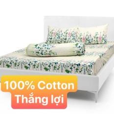 Bộ Drap+áo gối 100% vải Cotton Thắng Lợi / CHUẪN LOGO{ 4 MÓN } chọn size khách nhé