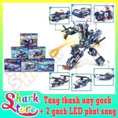 Bộ đồ chơi xếp hình Siêu ROBOT Cảnh Sát MINGDI-DL-C002