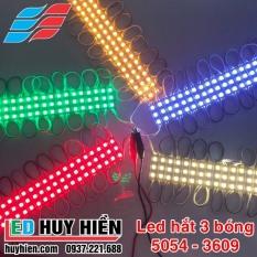 Led hắt 3 bóng 5054 kích thước 3609 các màu đơn sắc (Vỉ 20 thanh 3 mắt 5054)