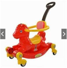 Ngựa bập bênh Chòi chân 2 chế độ (Có nhạc + bánh xe + bảo hiểm + cần đẩy)