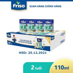 [QUA TẶNG KHÔNG BÁN] Thùng 48 hộp sữa bột pha sẵn Friso Gold Vani 110ml cho bé trên 2 tuổi