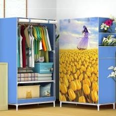 [ SALE XÃ HÀNG GIẢM 50% ] Tủ vải đựng quần áo – Tủ vải 3D, Tủ vải quần áo cao cấp kiểu dáng 3D 1 buồng 2 vách ngăn (có 2 màu xanh và hồng , lưu ý giao hình ngẫu nhiên)