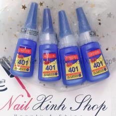Keo Loctite Hàn Quốc cao cấp 401, keo dán móng tay, đính đá, trang trí móng nail (chai 20g)