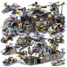 Bộ đồ chơi xếp hình Lego Naval Aircraft Special Police Military 792 mảnh ghép, 8 hình người, 27 hình thay đổi