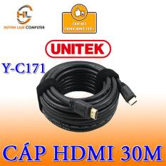 Cáp HDMI to HDMI 30m Unitek YC171 hỗ trợ 4k x 2k chỗng nhiễu cực tốt – Hãng phân phối