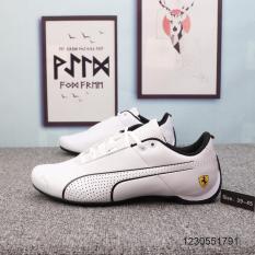 Giày Thể Thao Nam Puma Ferrari Creeper white&black. Mã LZD696