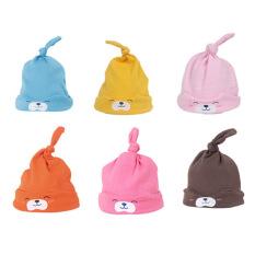 Mũ thắt nút hình cún cho bé trai và bé gái sơ sinh nhiều màu có chất liệu vải cotton mềm mại giúp bảo vệ vùng đầu của bé