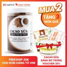 [MUA 2 TẶNG 3 QUÀ] Bột CACAO SỮA hòa tan 3 in 1 Light Cacao đậm đà thơm ngon,dùng pha uống liền, đặc biệt không pha trộn hương liệu, 100% từ cacao nguyên chất – hũ 550g